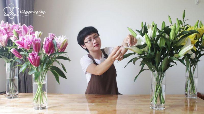 Chú ý khi cắm hoa