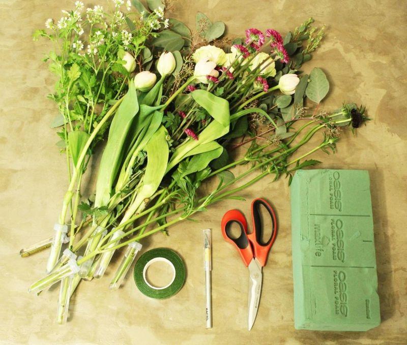 Quy tắc khi cắm hoa