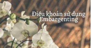 Điều khoản sử dụng Embargenting